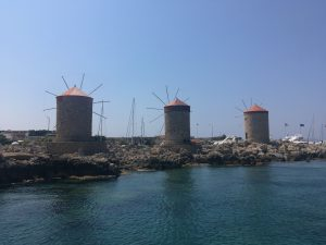 3 Windmills, Rhodes harbor
